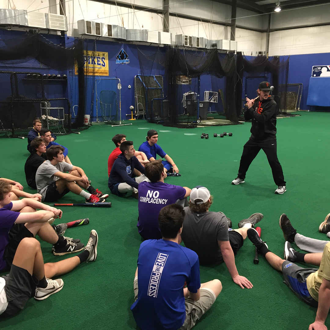 ccorbett15 sharing some knowledge with the guys at College Prephellip