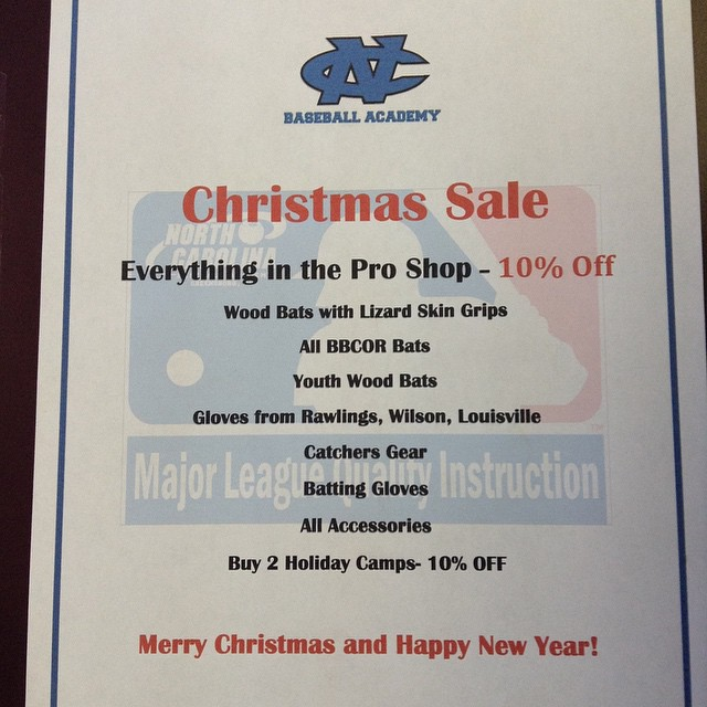 10% off everything in the NCBA pro shop! Come and finish your Christmas shopping with us!