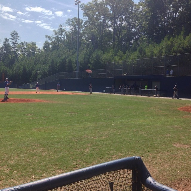 Golden spikes at North Sorings HS today. Played in front of Braves Rangers Clemson Elon UNCW South Carolina WCU.